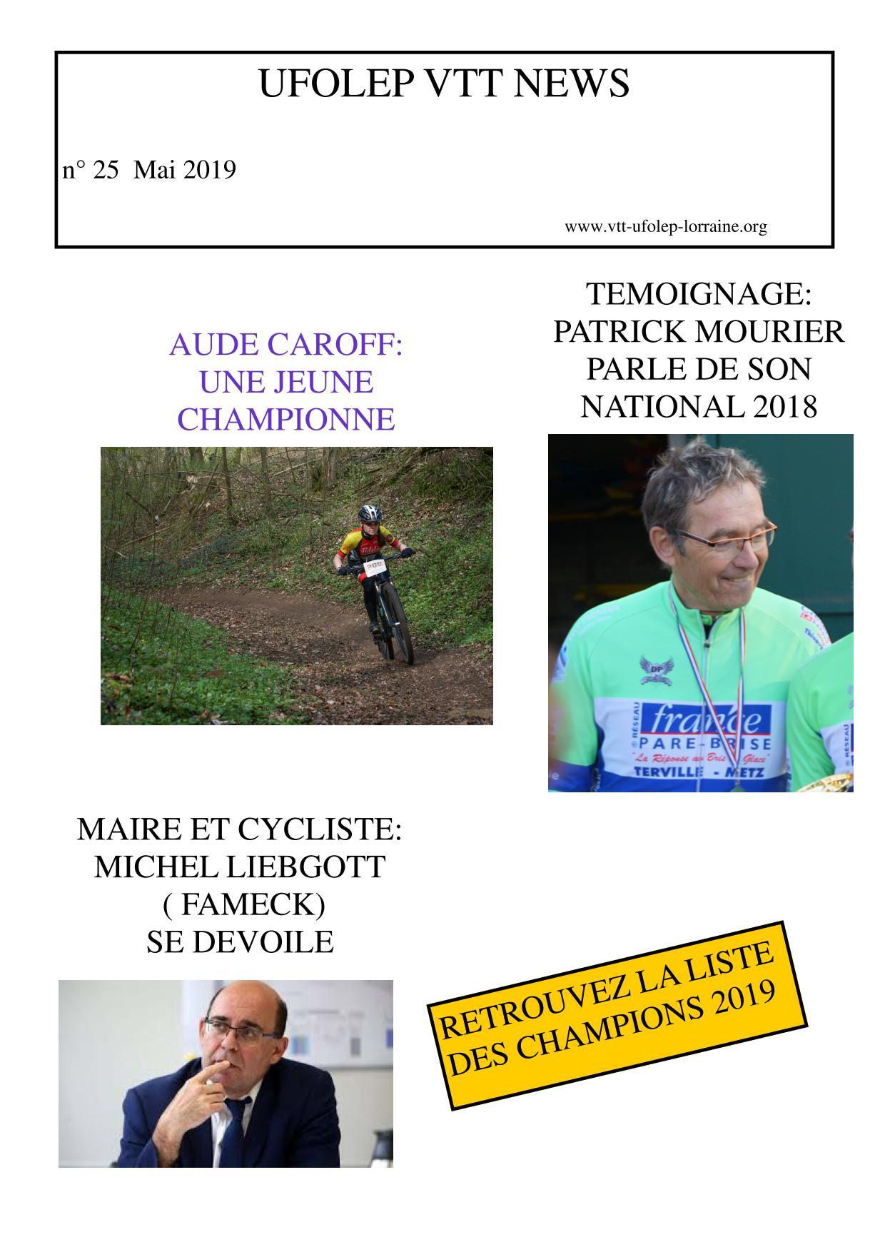 Calendrier Ufolep 2019 Cyclisme.Challenge De Lorraine Vtt Ufolep